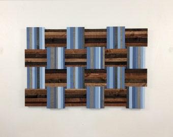 "wood wall art - ""The Birds All Weave"" - wood art, wooden wall art, wood wallhanging, wall art, wood sculpture, wood hanging, reclaimed art"