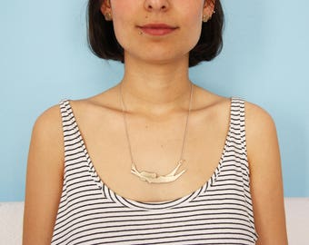 Woman Necklace - Brass