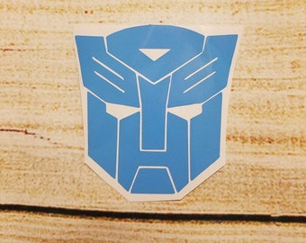 Autobot Transformer Vinyl Decal - Yeti Cup Decal - Car Window Decal - School Decal - Lunch Box  - Outdoor Vinyl Decal - Autobot Vinyl Decal
