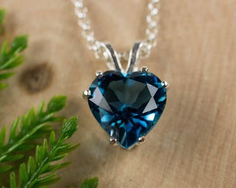 London Blue Topaz Sterling Silver Pendant