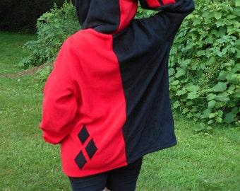 JLU Harley Quinn Custom Hoodie Large