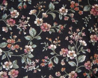 Joan Kessler Black Floral Fabric
