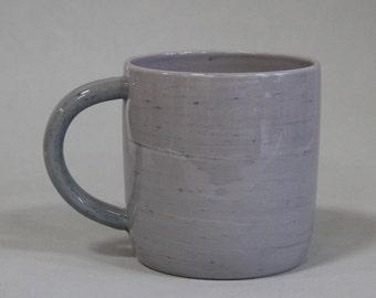wheel thrown mug / speckled mug / modern coffee mug / modern pottery mug / housewarming gift