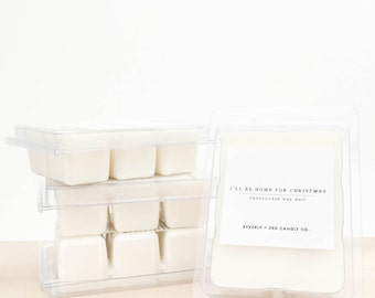 I'LL BE HOME For Christmas Soy Wax Melts | Scented Soy Tarts, Soy Candle Melt, Scented Wax Cubes