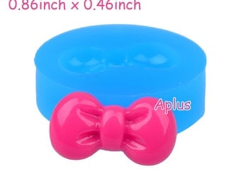 FYL036 21.8mm Tiny Bow Bowtie Silicone Flexible Push Mold - Jewelry, Charms, Cupcake (Clay, Fimo, Sculpey, Resin, Fondant)