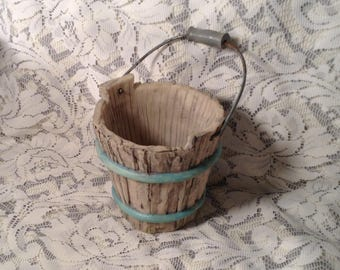 Ceramic Bucket - Spring or Easter Flower Planter