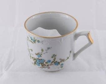 Vintage Mustache Cup, Viletta's Arts Floral Mustache Cup