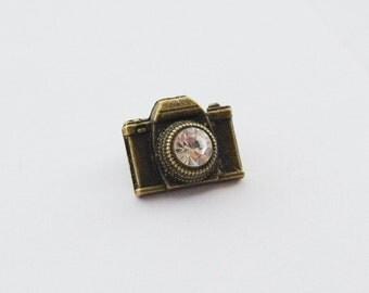 Camera Pin, Camera Tie Pin, Selfie Pin, Selfie Lapel Pin, Camera Tie Clip, Camera Gifts for Men, Camera Tie Clips Men, Photographer Gift
