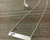 Reserved: Moose Bar Necklace, Duluth, MN, Northwoods Inspired Necklace, Solid Sterling Silver Chain, Unique Gift!
