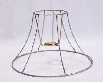 Lamp Shade Wire Frame Cottage Shabby Chic Lamp Harp DIY Kit Vintage Metal 6-Sided Hexagon Lamp Shade Frame