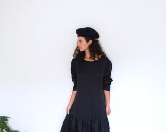 RARE - Blackseed Silk Drop Waist Dress