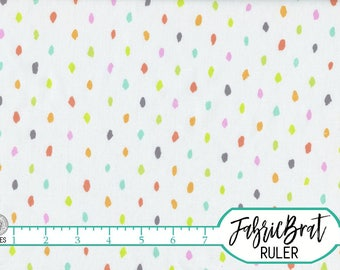 RAINBOW CONFETTI Fabric by the Yard Fat Quarter Modern Paint Spots Birthday Fabric 100% Cotton Quilting Fabric Apparel Fabric Yardage a2-21