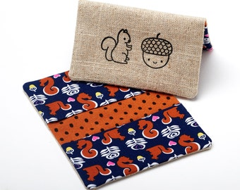 Squirrel Wallet, Slim Card Case, Gift Card Holder - Woodland Squirrel Gift - Woodland Animals