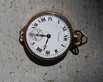 Antique Waltham Wrist Watch. 15 Jewel, Openface, Rose Gold Filled Wadsworth Referee Case. 1915.