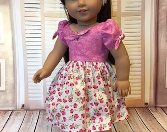 Bow Tie Dress Set fits American Girl and 18 inch dolls