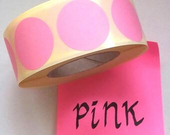 """Round stickers, pink, set of 25, 3 cm (1.18""""), envelop sticker, sticker dot, sticker, pink sticker, envelop seal, gift sticker"""