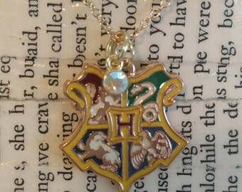 Harry Potter Hogwarts Crest Charm Necklace