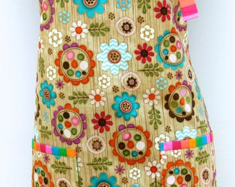 Carnival Capers ladies one piece apron