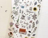 The Secret Garden Stickers Planner Stickers // Scrapbooking embellishment // DIY essentials