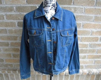 Size M Vintage 90's Denim Jacket / Bill Blass / Vintage Jean Jacket / Medium Dark Wash Denim  / Bill Blass 90's Jean Jacket / Size M