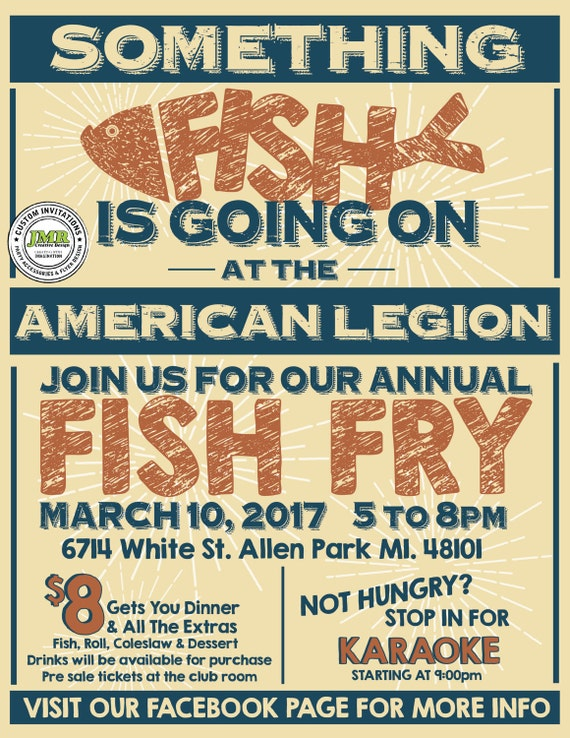 fish fry fundraiser flyer something fish is going on flyer