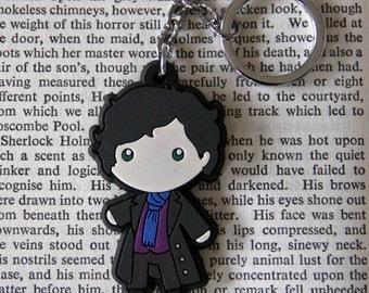 SHERLOCK Figure Keychain, Sherlock Holmes, Fan Jewelry, Great Gift