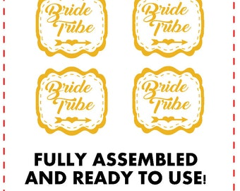 Bride Tribe Signs 4 White and Gold Bachelorette Party Signs Custom Bridal Shower Photo Props Bride Tribe Props Wedding Photo Props Wedding