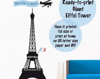 Paris theme party Eiffel Tower printables paris decor Instant download paris printable decoration paris party decorations paris giant poster