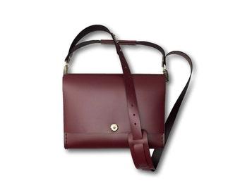 Smooth leather shooulder bag | #toxleather handmade shoulder | MAROON