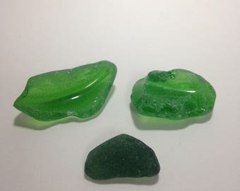 Lake Erie green beach glass