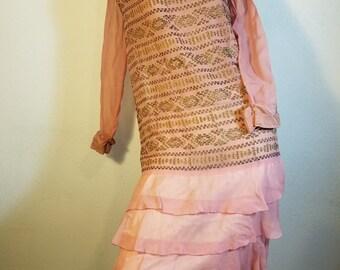 FREE  SHIPPING  1920 Silk Crepe Dress