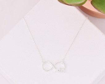 Alpha Gamma Delta Infinity Sorority Necklace / AGD Necklace / AGD Infinity Necklace / Sorority Necklace / Sorority Jewelry / Sorority Gifts