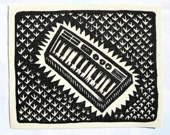 Woodcut Patch - Synthesizer