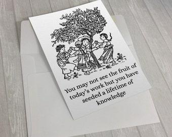 Teacher Appreciation Gift, Teacher Gift, Teacher Card, Thank You Card, Gift For Teacher , Daycare Teacher Gift, Daycare Provider Gift, Nanny