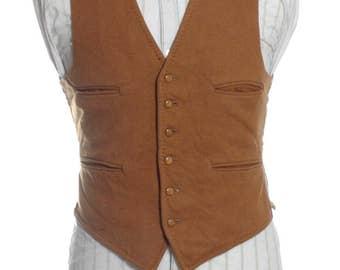Vintage 1960's Dunn & Co Wool Waistcoat 36 XS - www.brickvintage.com