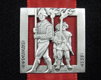 Swiss medal : Swiss traditions - Swiss Folklore - Escalade