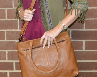 Concealed Carry Purse- Genuine Butterscotch Leather- CC101