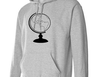 World Globe Hoodie Sweatshirt S M L Xl 2Xl 3Xl