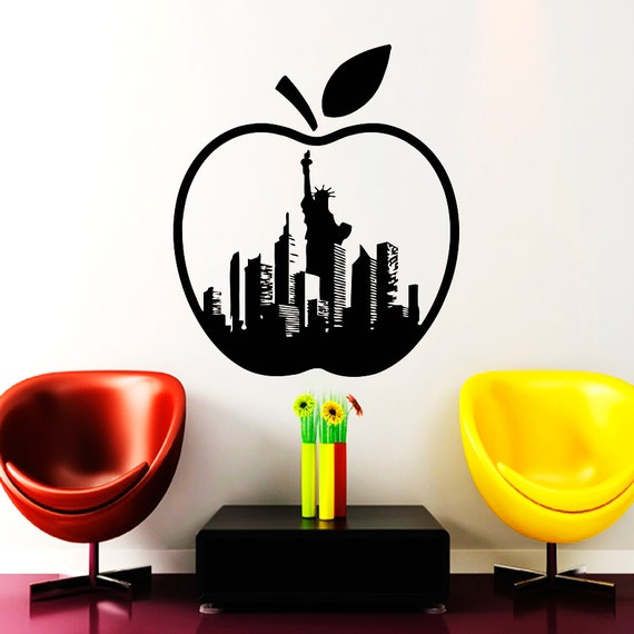 The Big Apple New York City Wall Decal by VinylDecals2U