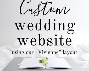 Custom Wedding Website Design / Custom Wordpress Website / Wedding Website RSVP Website / Website Design / Wedding Website Design
