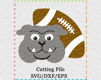 EXCLUSIVE SVG eps DXF Cutting File Bulldog Football svg, mascot svg, bulldog svg, bulldogs cutting file, football svg, bulldogs svg