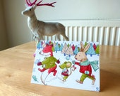 Snow Fight (PACK OF 3) Christmas Cards- Illustration and Design