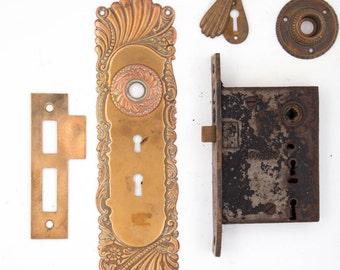 Roanoke Antique Entry Door Set 532041