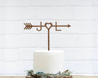 Customized Wedding Cake Topper, Personalized Cake Topper for Wedding,Custom Personalized Wedding Cake Topper,Monogram Cake Topper Initials 2
