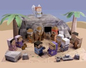 Bible MiniWorld Paper Toys – The Easter story - Cut, assemble and play. Instant Download