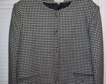 Jacket 16, Brooks Brothers Jacket, Houndstooth Wool Great Vintage Career Find.  see details