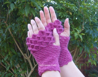 Dragon Scale Gloves, Dragon Gloves, Arm Warmers, Fingerless Gloves, Wrist Warmers, Fingerless Mitts, Teen Mitts, Cosplay - Ready To Ship