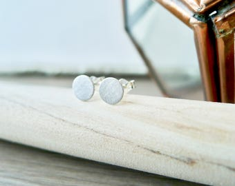 Plain Studs, Sterling Silver, Modern Studs, Simple Studs, Small Earrings, Plain Earrings, Circle, Round Studs, Circle Studs, Simple Earrings