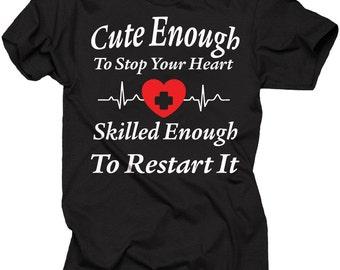 Register Nurse T-Shirt Funny Paramedic Nurse Doctor Tee Shirt