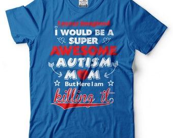 Autism Mom T-Shirt Autism Awareness Tee Shirt